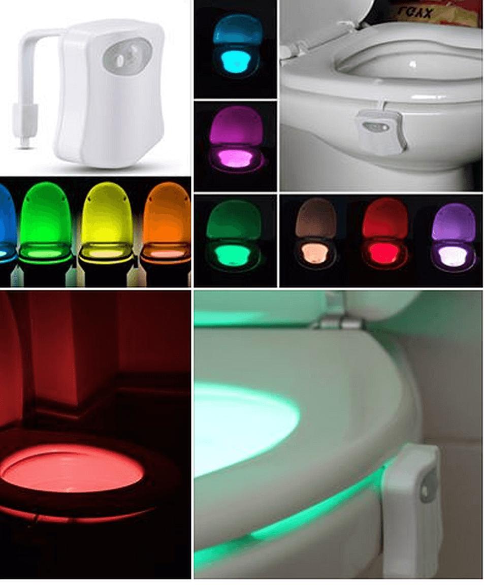 Ilyen a világító, LED-es WC-kagyló!