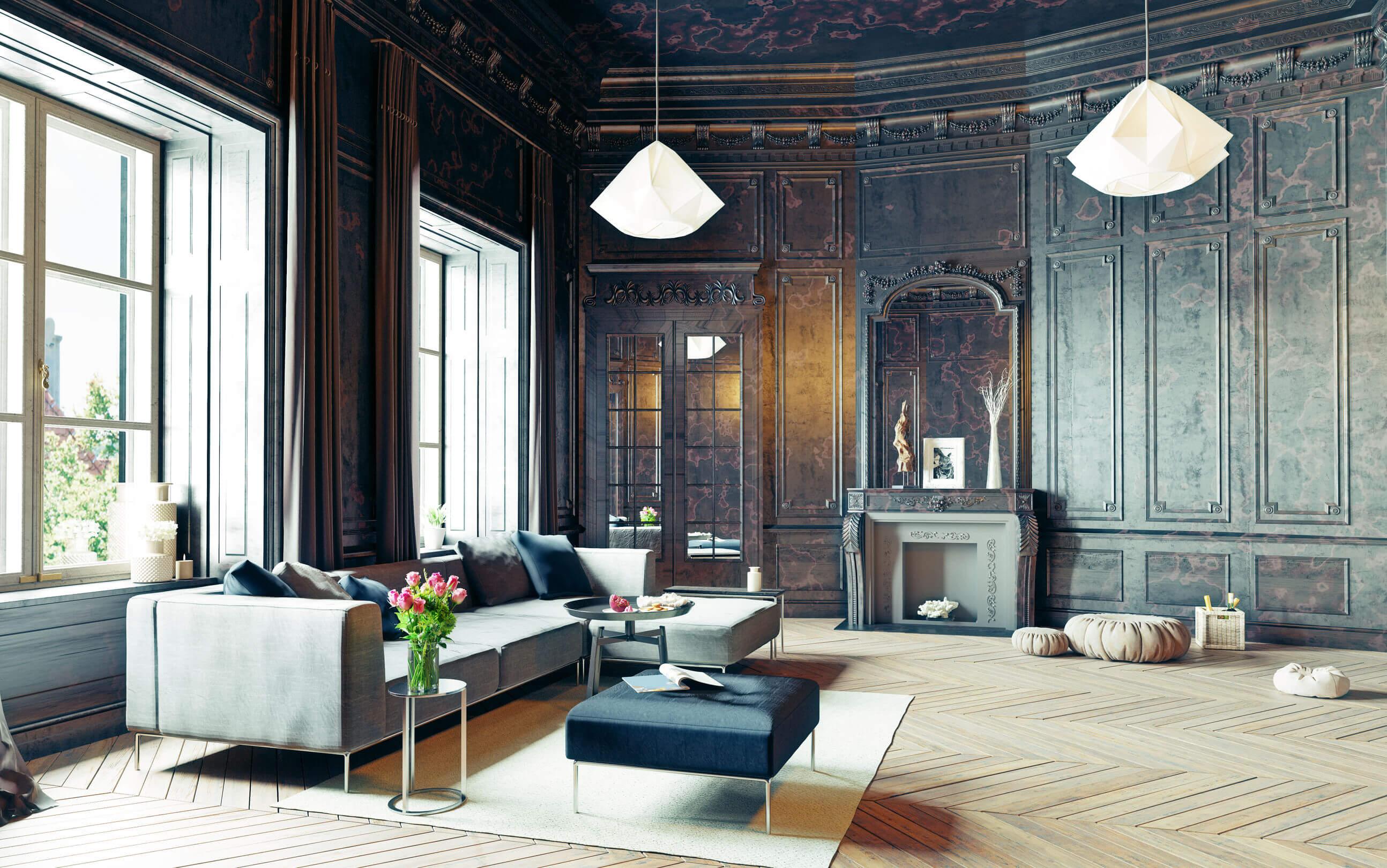 Budapesti magazinlakások gyönyörű nappalival!