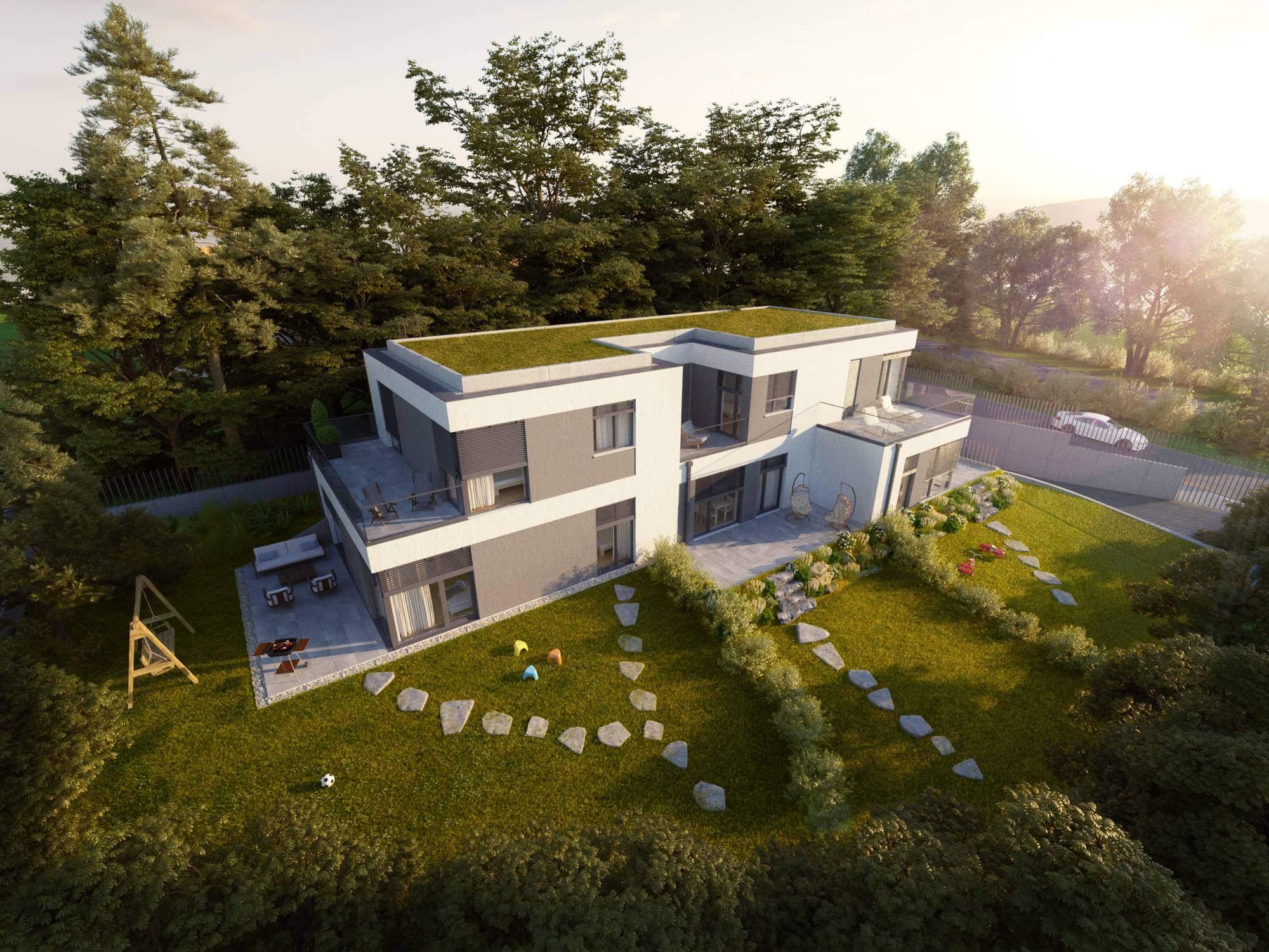 Új építésű, csodás panorámával hívogató villalakások Óbudáról