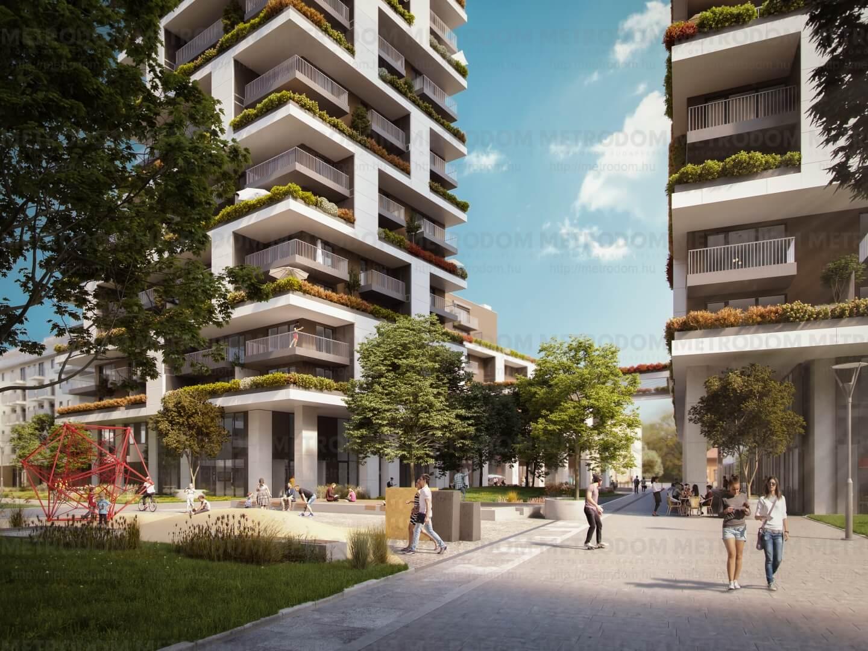 Szupermodern, zöld otthonok dunai panorámával