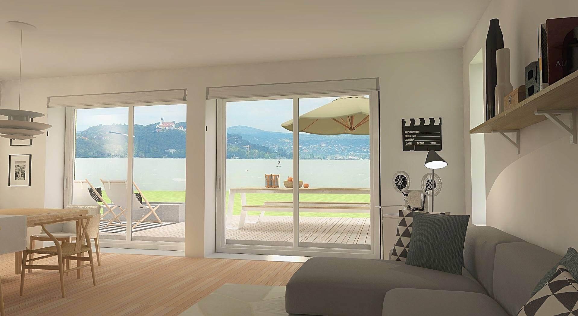 Balatoni álomnyaraló tihanyi panorámával, pár lépésre a vízparttól