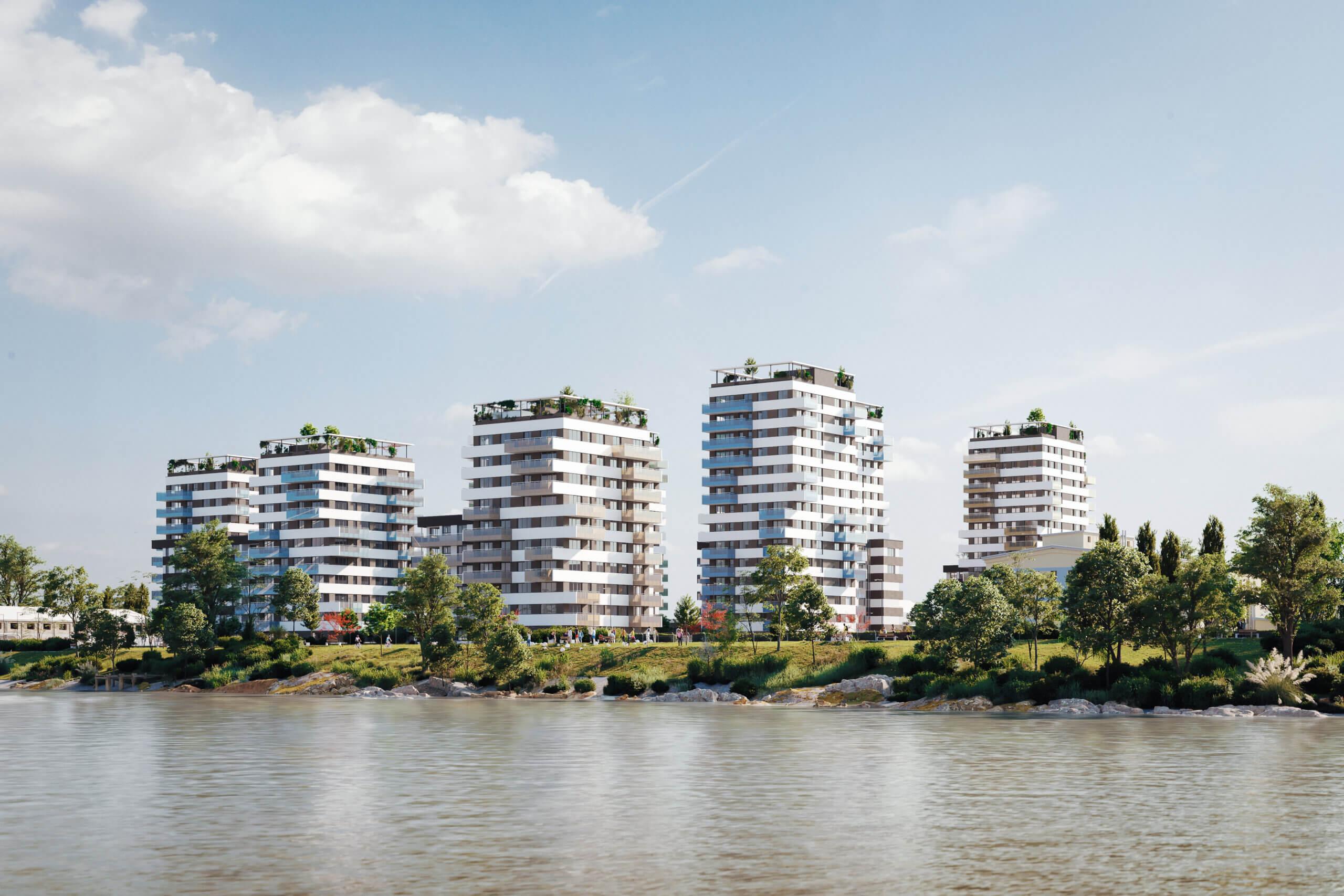 Középpontban a víz: prémium új lakópark közvetlenül a Duna-parton!